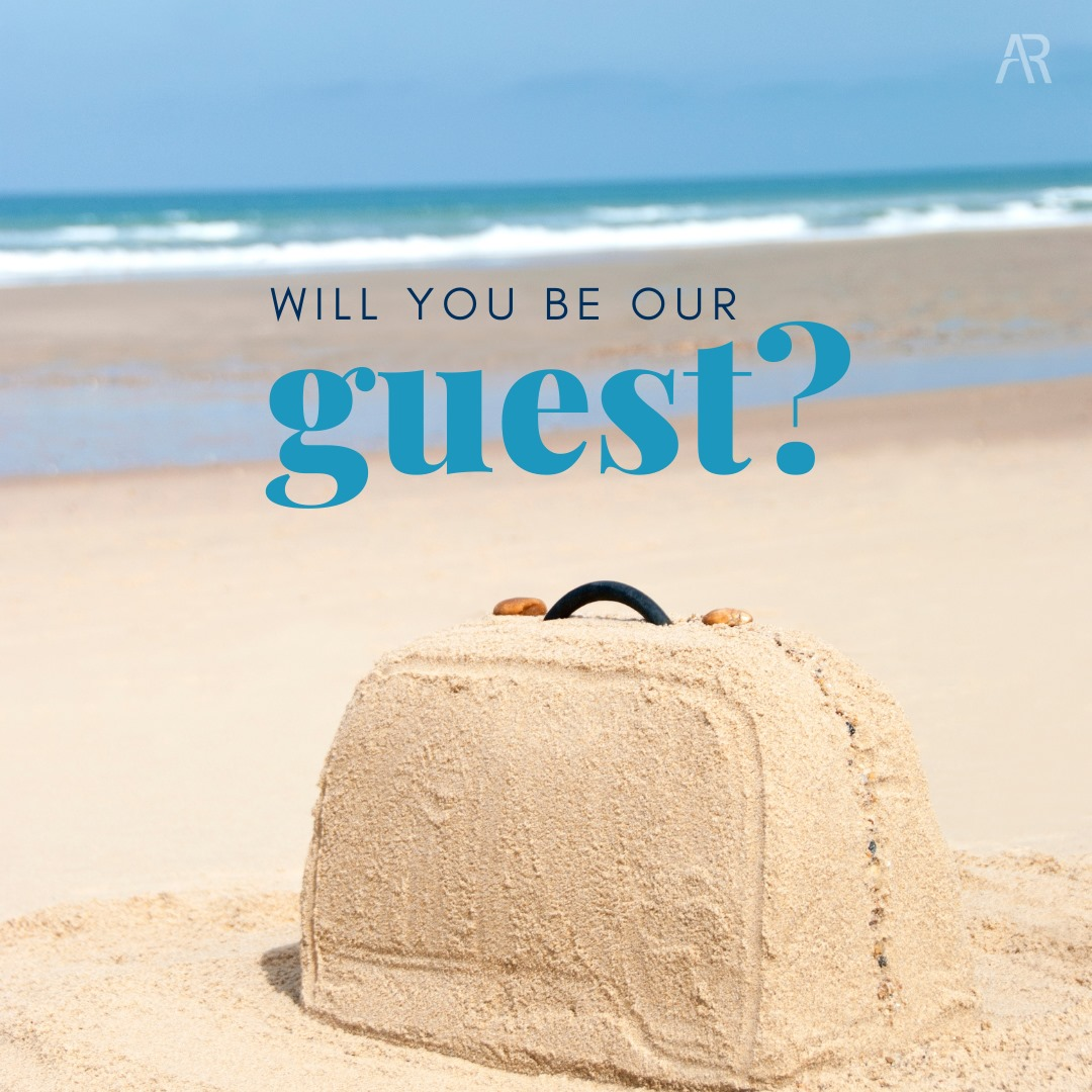 Be Our Guest Sand Suitcase